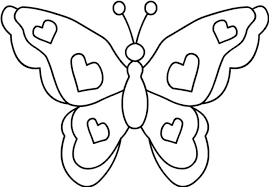 coloring butterfly simple butterfly coloring pages