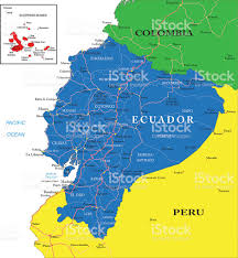 Map Of Colombia South America colorful map of western south america focusing on ecuador stock