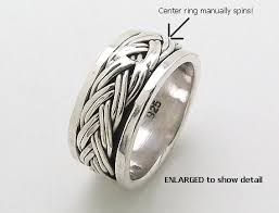 spinner rings sterling silver spinner rings braided spinner rings model mr0038