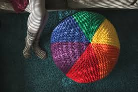 Knitting Home Decor Must Have Knitted Home Decor Spectrum Pouf Knitting Daily