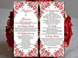 tea length wedding programs diy wedding program template tea length program