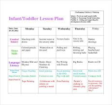 toddler lesson plan template weekly lesson plan template doc