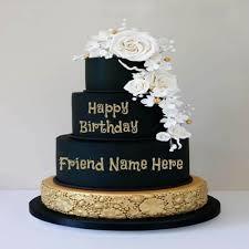 the birthday cake the birthday cake happy birthday cake with name write name on