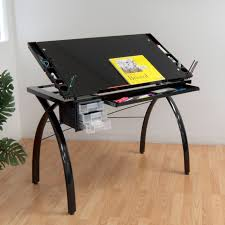 Foldable Drafting Table Studio Designs Futura Drafting Table With Glass Top Walmart