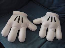 nwot mickey minnie mouse plush white gloves hands