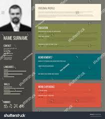 Resume Template Design Vector Minimalist Cv Resume Template Design Stock Vector 308602349