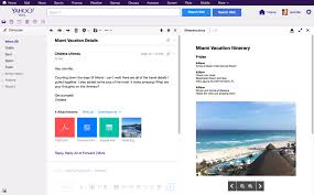 yahoo mail now lets you view messages and attachments side by side