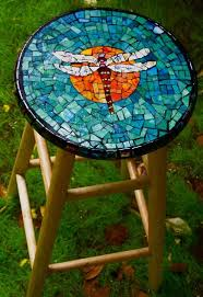 stained glass work table design dragonfly mosaic stool design pinterest mosaics dragonflies