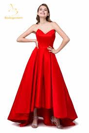 11 11 big sale new elegent red cheap short front long prom dresses
