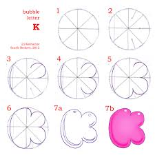how to draw bubble letters page 3