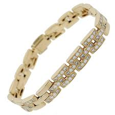 gold link bracelet with diamonds images Cartier maillon panthere three row diamond gold link bracelet for jpg