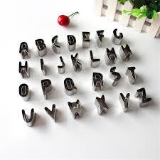 lettre deco cuisine anglais lettre forme en acier inoxydable biscuit cookie cutter moule