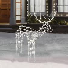 Lighted Sleigh And Reindeer by Amazon Com 2 Piece Lighted Animated Holiday Deer Family 48