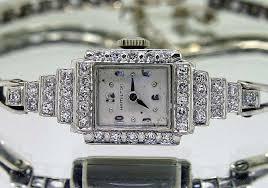bracelet diamond watches images Ejewelsandmore antique hamilton diamond bracelet watch JPG
