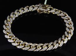 diamond link bracelet gold images Solid miami cuban link bracelet in 10k yellow gold 10 mm 5 ct jpg