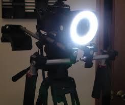 ring light for video camera on camera light for gh1
