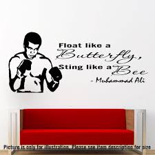 Wall Art Stickers by Muhammad Ali Wall Art Sticker Vinyl Quote Champion Decal Gym