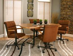 Swivel Dining Chair Dining Room Chairs With Rollers