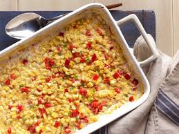 baked creamed corn with bell peppers and jalapenos recipe