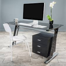 innovex glass computer desk black glass top computer desks for home best 25 black glass computer desk