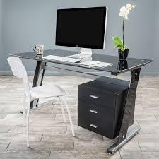Glass Top Computer Desks For Home Glass Top Computer Desks For Home Best 25 Black Glass Computer