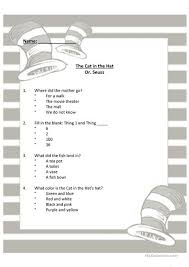 dr seuss hat template free dr seuss the cat in the hat worksheet free esl printable