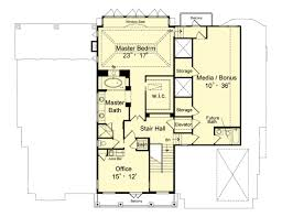 2nd Floor Plan Design Featured House Plan Pbh 1892 Professional Builder House Plans