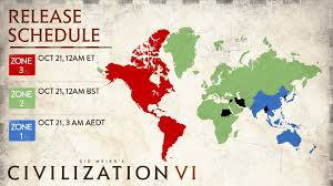 Time Zone Map Usa And Canada by Civilization Vi Launch Times Pre Load Live On Steam Pc Invasion