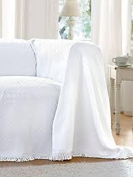 jeté canapé hahn le jeté pour canapé et lit env 160x250cm blanc