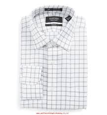dress shirts mens elegant shape david donahue trim fit check