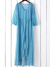 vertical stripe maxi shirt dress blue green maxi dresses m zaful
