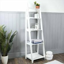Diy Leaning Ladder Bathroom Shelf by Bathroom Ladder Shelves Michelec Info