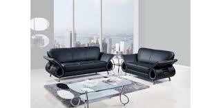 Black Leather Sofa Modern Contemporary Florence Knoll Style Black Leather Sofa Dining Room