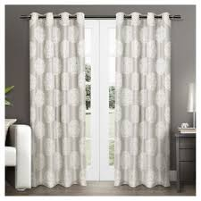 Smocked Burlap Curtains 54 Inch Length Curtains Target