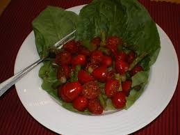 grape cherry tomato salad with soy sauce dressing the food