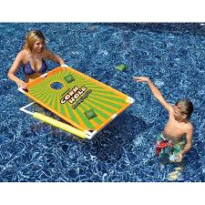 water sports floating corn hole bean bag target toss swimming pool