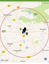 draw a radius on a map zooming map to specific radius in in android stack