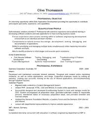 Software Engineer Resume Objective Statement Software Engineer Resume Sample Experienced Resume Months