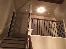 Wrought Iron Banister Wrought Iron Spindles On Stairs Houston How Much New House