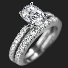 wedding ring set for novu wedding ring set miadonna