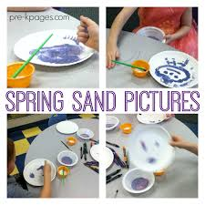 spring sand pictures pre k pages