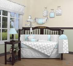 Zig Zag Crib Bedding Set Nursery Beddings Zig Zag Yellow And Gray Chevron Crib Bedding