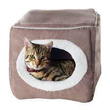 dog beds for girls amazon com petmaker enclosed cube pet bed pet supplies