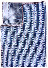 Quilted Bedspread King King Size Indigo Blue Kantha Quilt Indian Patchwork Handmade