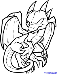 coloring pages nice coloring pages draw simple dragon fire