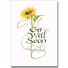 get well card illustration and lettering for the printery house