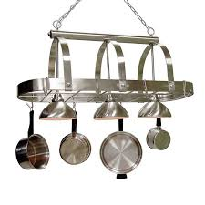 Kitchen Island Pot Rack Lighting Shop Lighted Pot Racks At Lowes Com