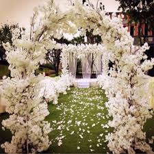 white garland artificial cherry blossom flower garland white pink purple