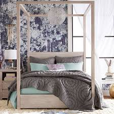White Bed Canopy Costa Canopy Bed Pbteen