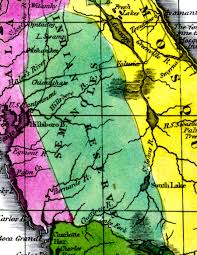 Usf Map Seminole Indian Reserve 1834